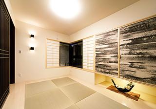 明るい色合いの和室